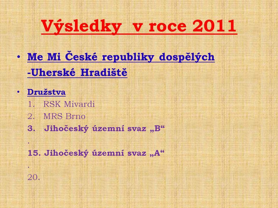 Výsledky v roce 2011 Me Mi České republiky dospělých -Uherské Hradiště
