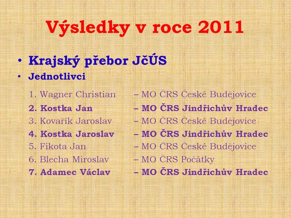 Výsledky v roce 2011 Krajský přebor JčÚS