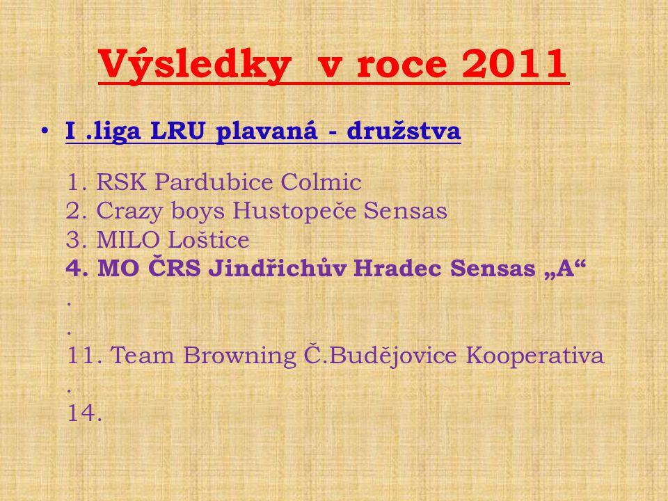 Výsledky v roce 2011 I .liga LRU plavaná - družstva