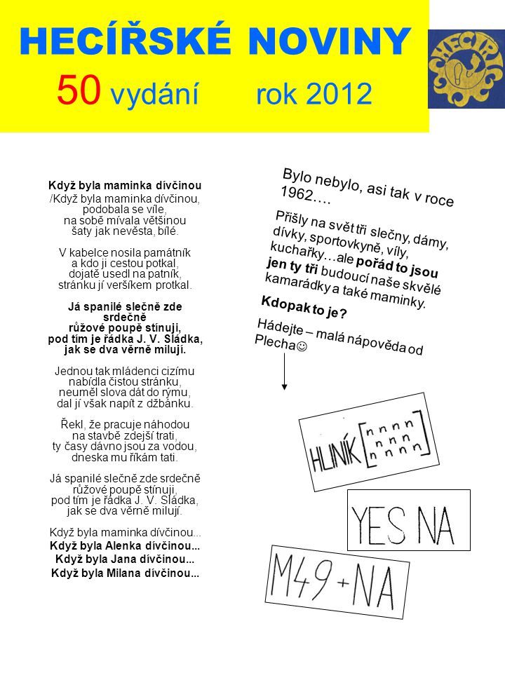 HECÍŘSKÉ NOVINY 50 vydání rok 2012