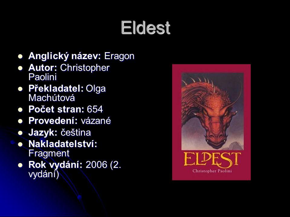 Eldest Anglický název: Eragon Autor: Christopher Paolini