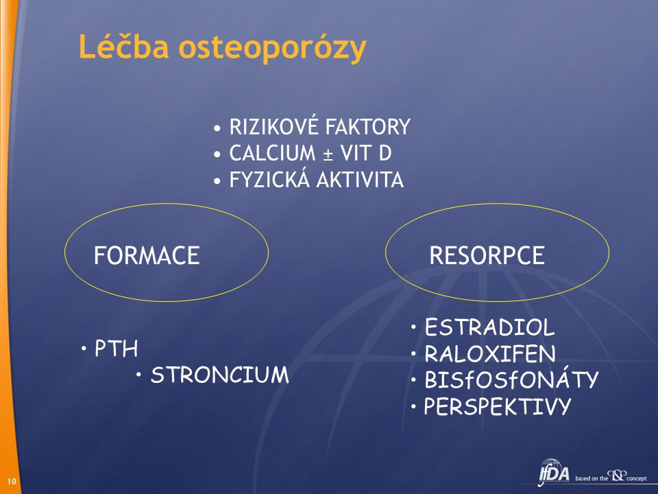 Léčba osteoporózy FORMACE RESORPCE • RIZIKOVÉ FAKTORY