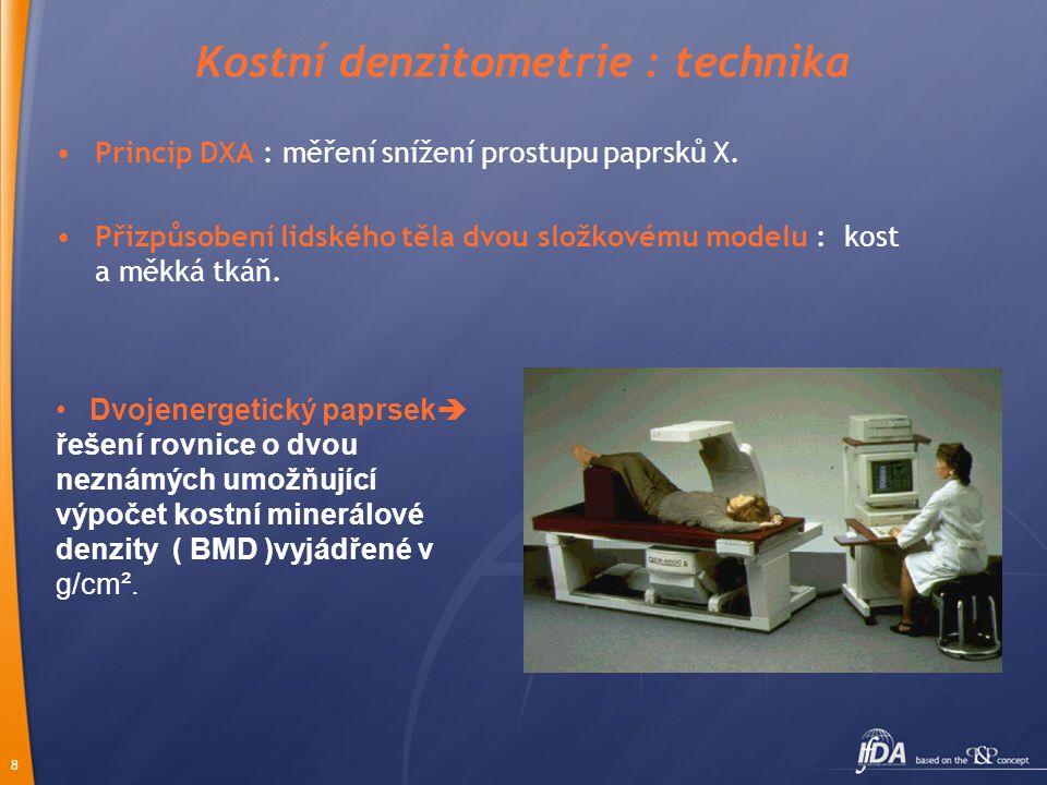 Kostní denzitometrie : technika