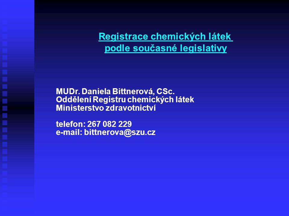 Registrace chemických látek