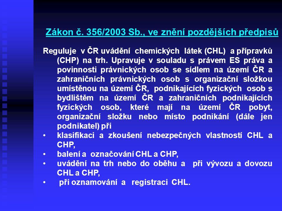Zákon č. 356/2003 Sb., ve znění pozdějších předpisů