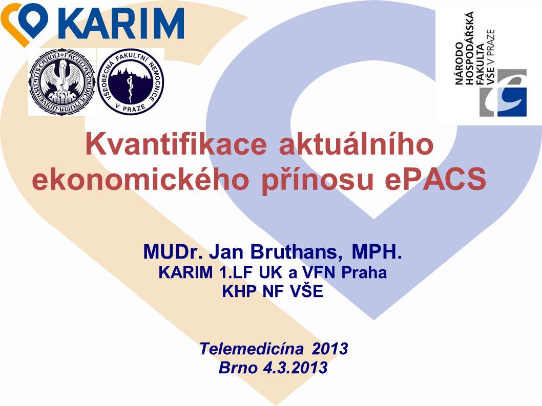 Kvantifikace aktuálního ekonomického přínosu ePACS