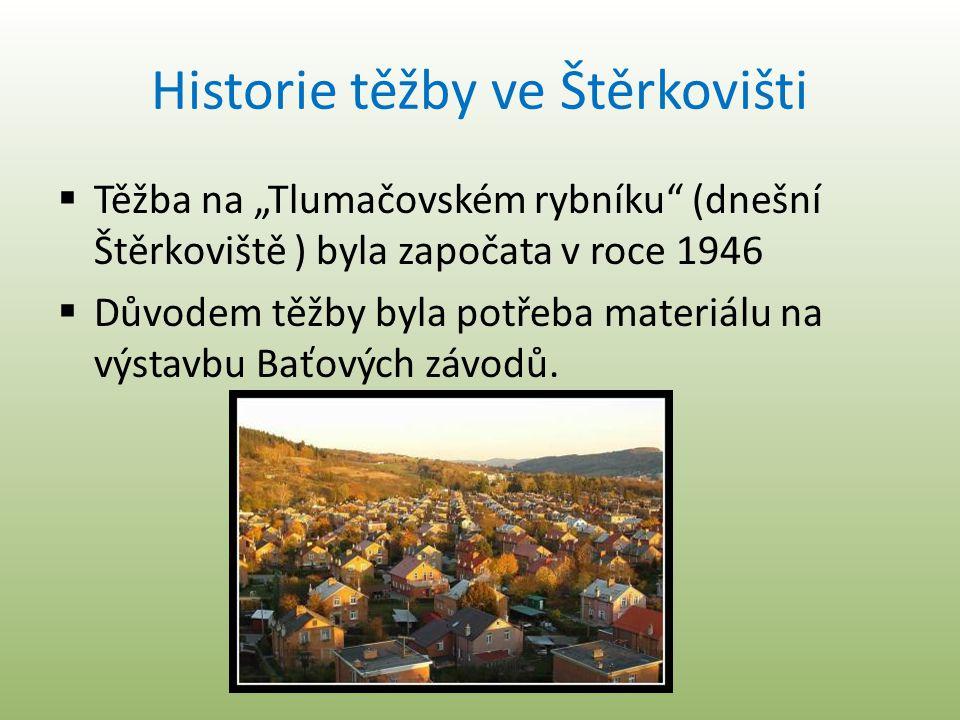 Historie těžby ve Štěrkovišti