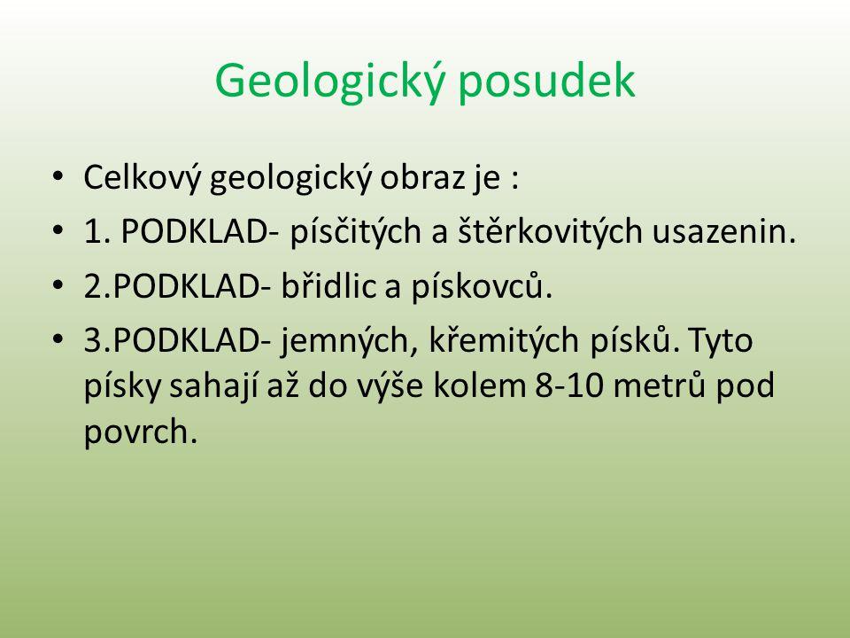 Geologický posudek Celkový geologický obraz je :