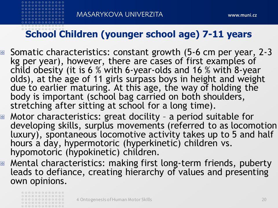 School Children (younger school age) 7-11 years