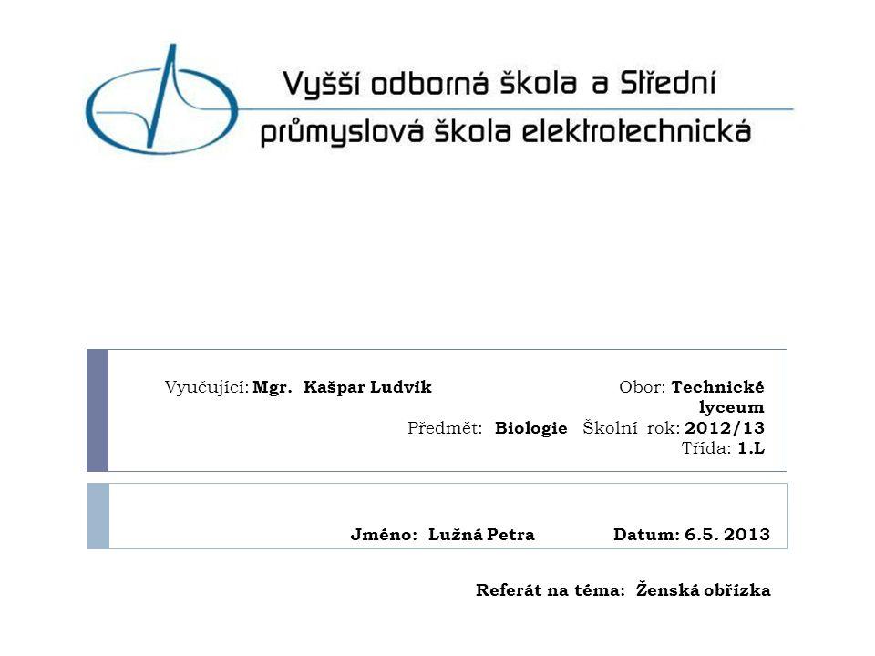 Jméno: Lužná Petra Datum: 6.5. 2013 Referát na téma: Ženská obřízka