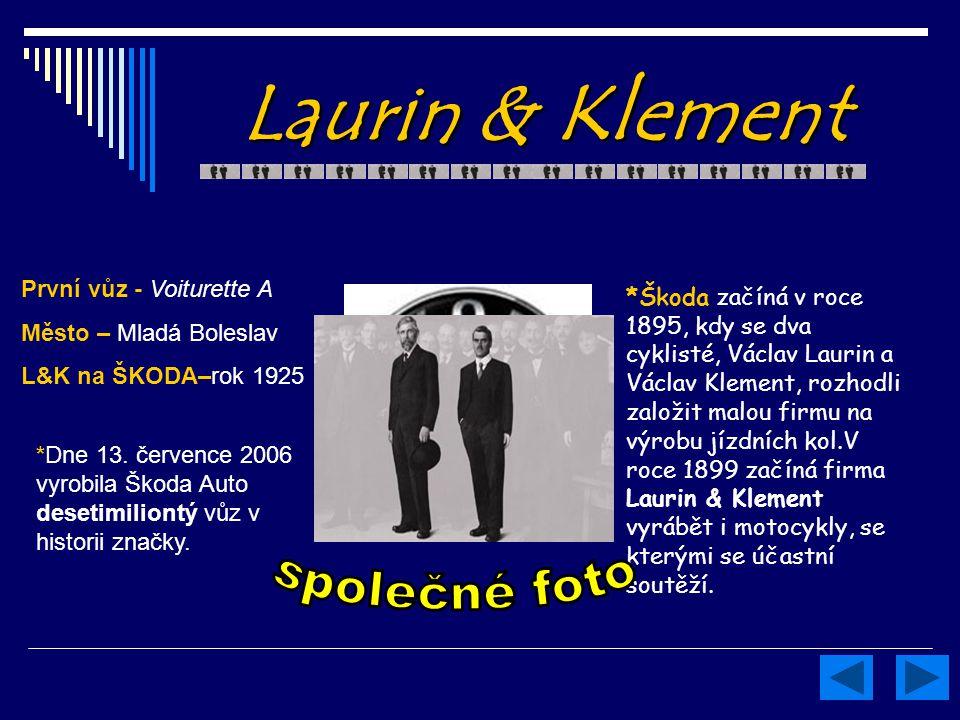 Laurin & Klement společné foto První vůz - Voiturette A