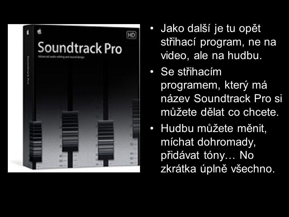 Jako další je tu opět střihací program, ne na video, ale na hudbu.
