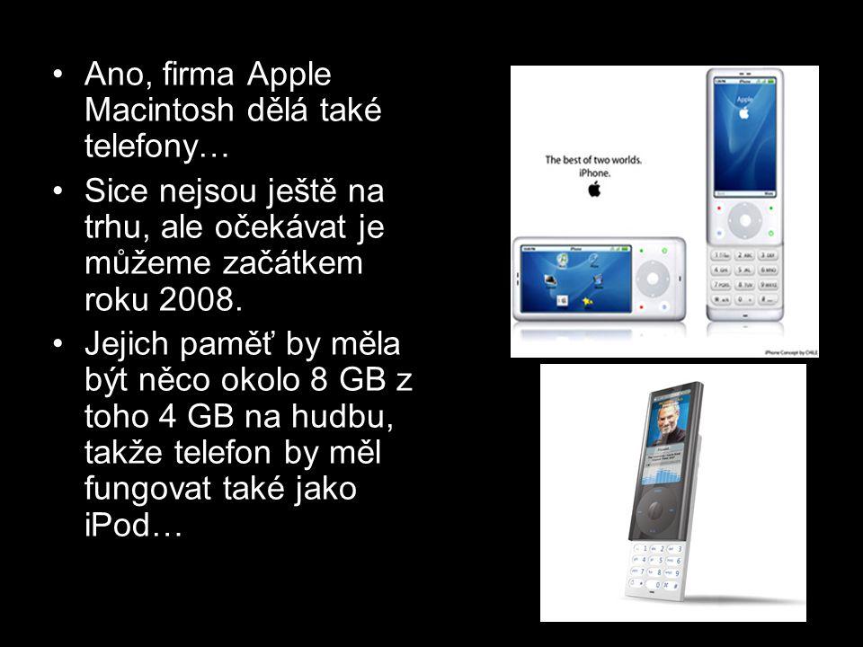 Ano, firma Apple Macintosh dělá také telefony…