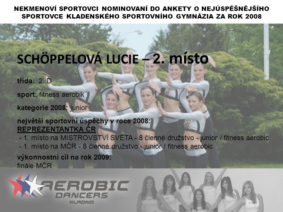 SCHÖPPELOVÁ LUCIE – 2. místo