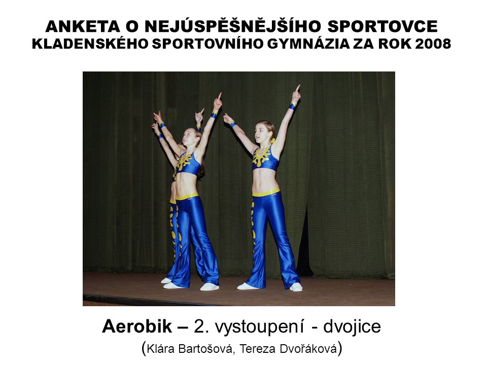 Aerobik – 2. vystoupení - dvojice
