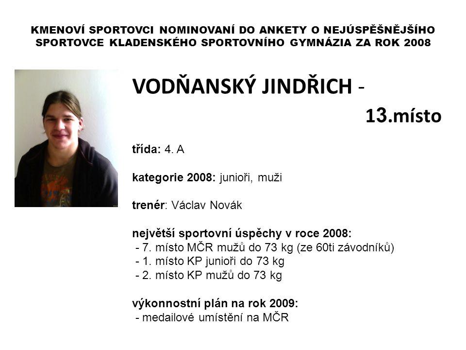 VODŇANSKÝ JINDŘICH - 13.místo