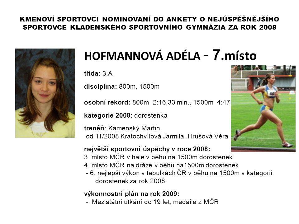HOFMANNOVÁ ADÉLA - 7.místo