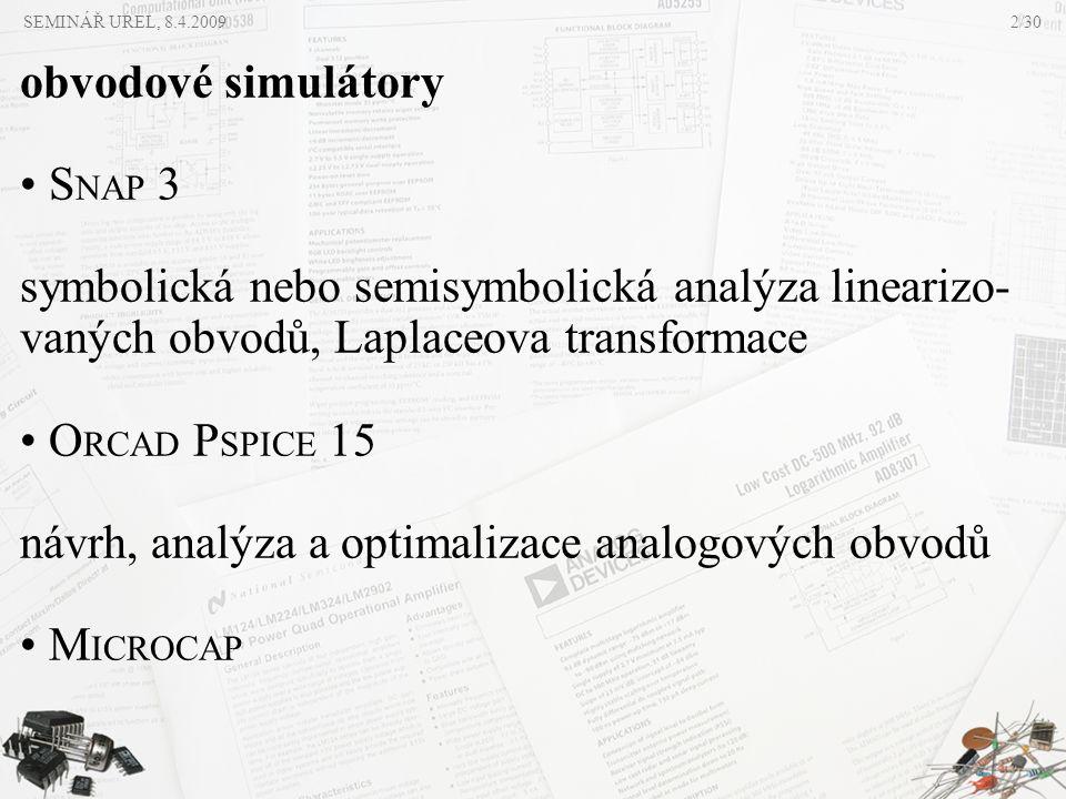 symbolická nebo semisymbolická analýza linearizo-