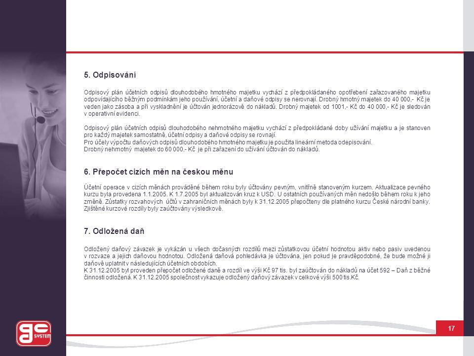 6. Přepočet cizích měn na českou měnu