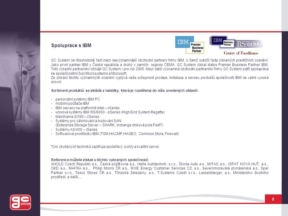 Spolupráce s IBM