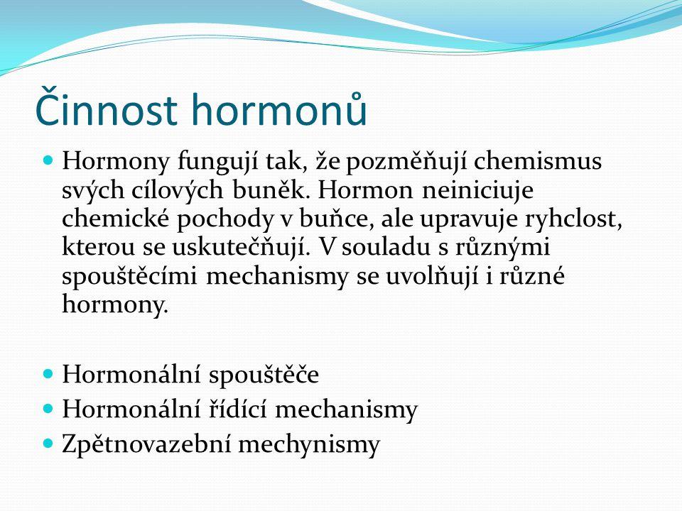 Činnost hormonů