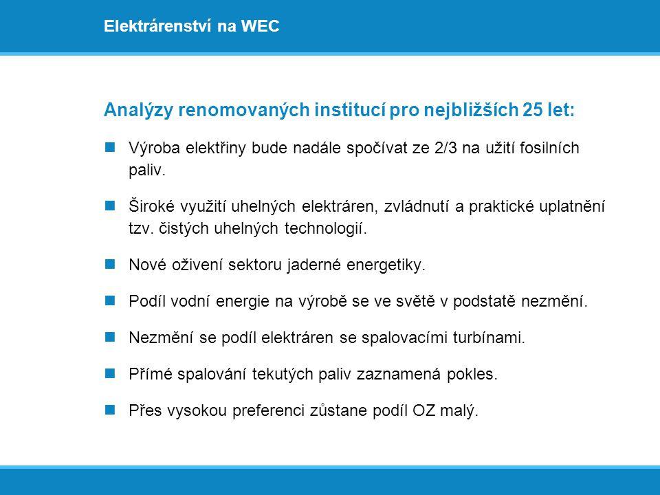 Analýzy renomovaných institucí pro nejbližších 25 let: