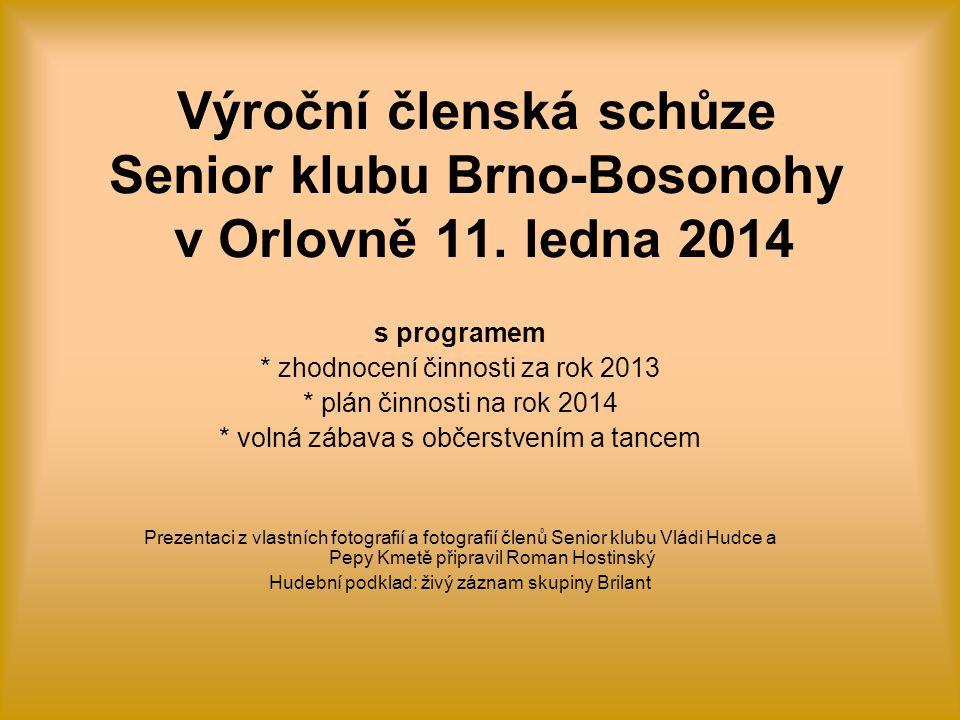 Výroční členská schůze Senior klubu Brno-Bosonohy v Orlovně 11