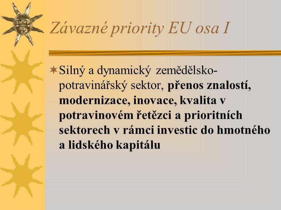 Závazné priority EU osa I