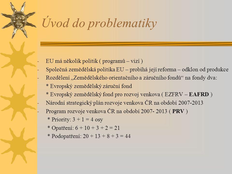 Úvod do problematiky EU má několik politik ( programů – vizí )