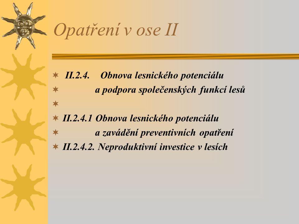 Opatření v ose II II.2.4. Obnova lesnického potenciálu