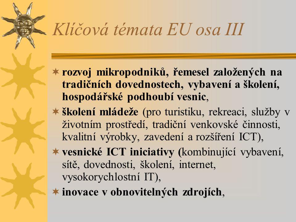 Klíčová témata EU osa III