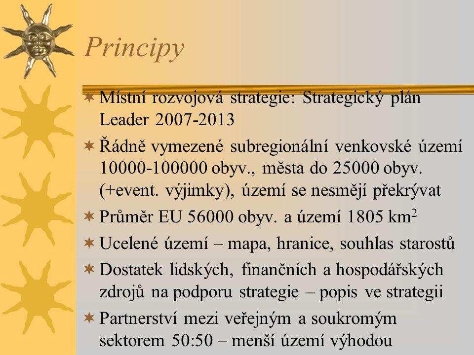 Principy Místní rozvojová strategie: Strategický plán Leader 2007-2013