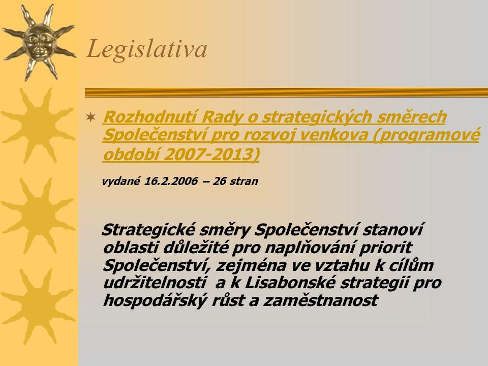 Legislativa vydané 16.2.2006 – 26 stran