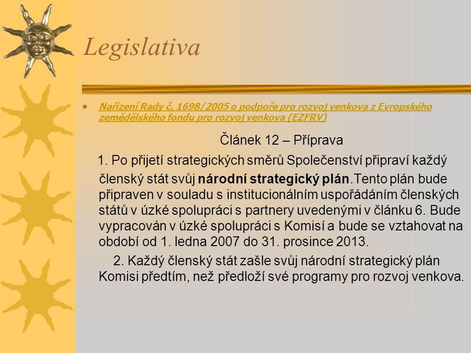 1. Po přijetí strategických směrů Společenství připraví každý