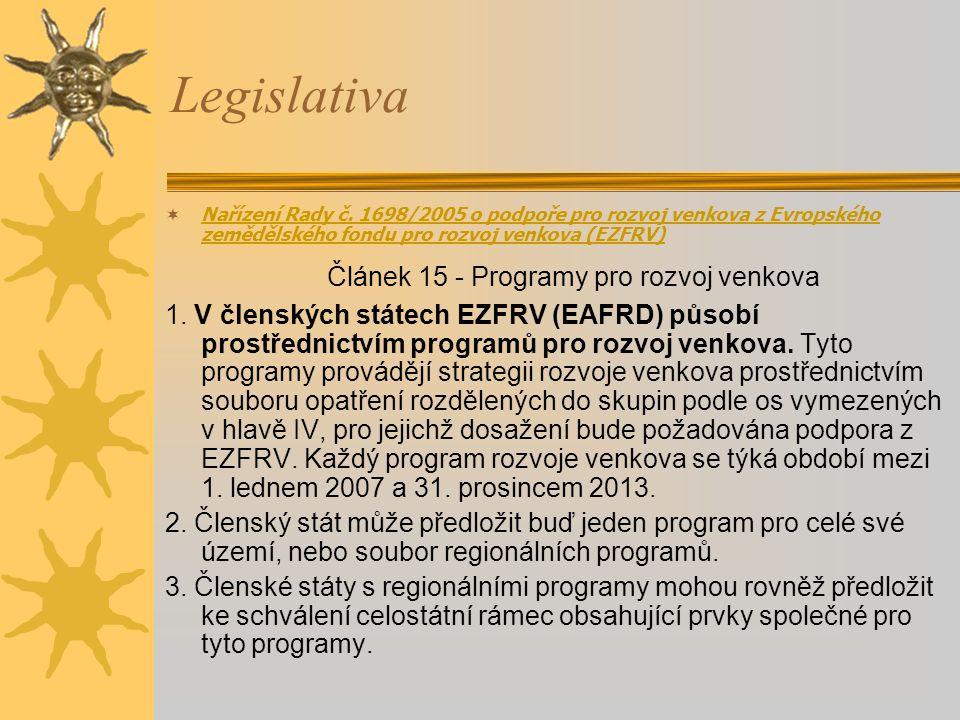 Článek 15 - Programy pro rozvoj venkova