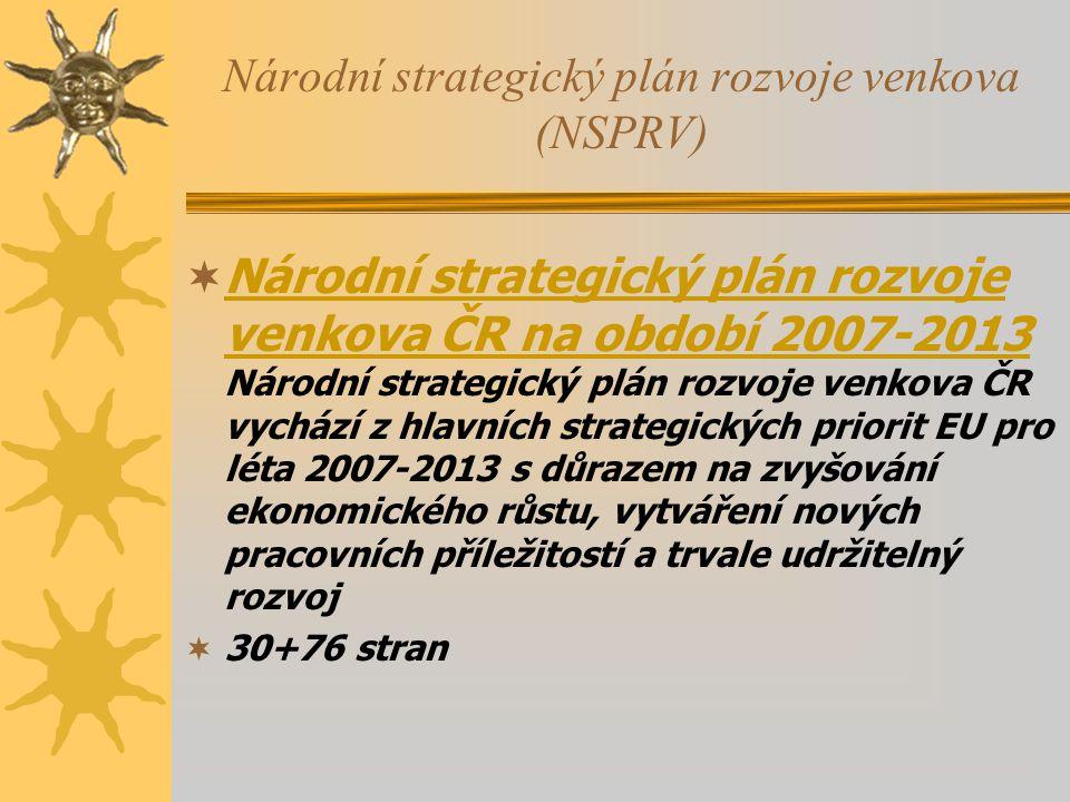 Národní strategický plán rozvoje venkova (NSPRV)