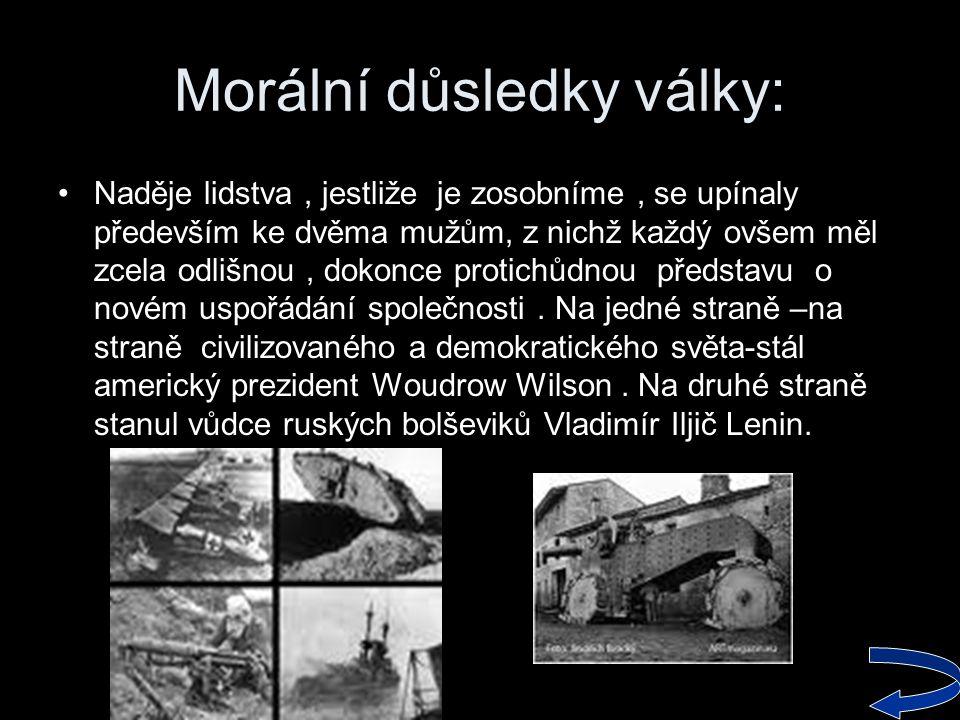Morální důsledky války: