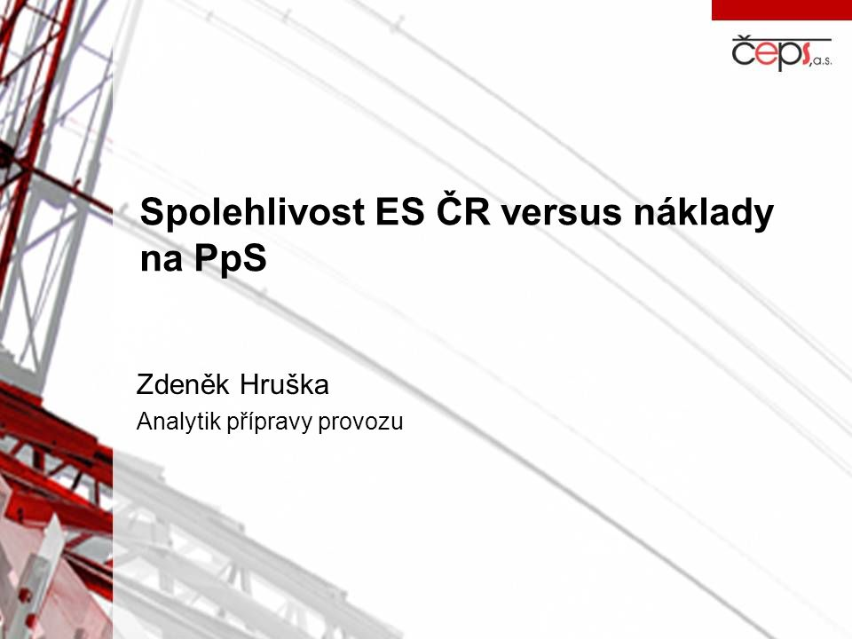 Zdeněk Hruška Analytik přípravy provozu