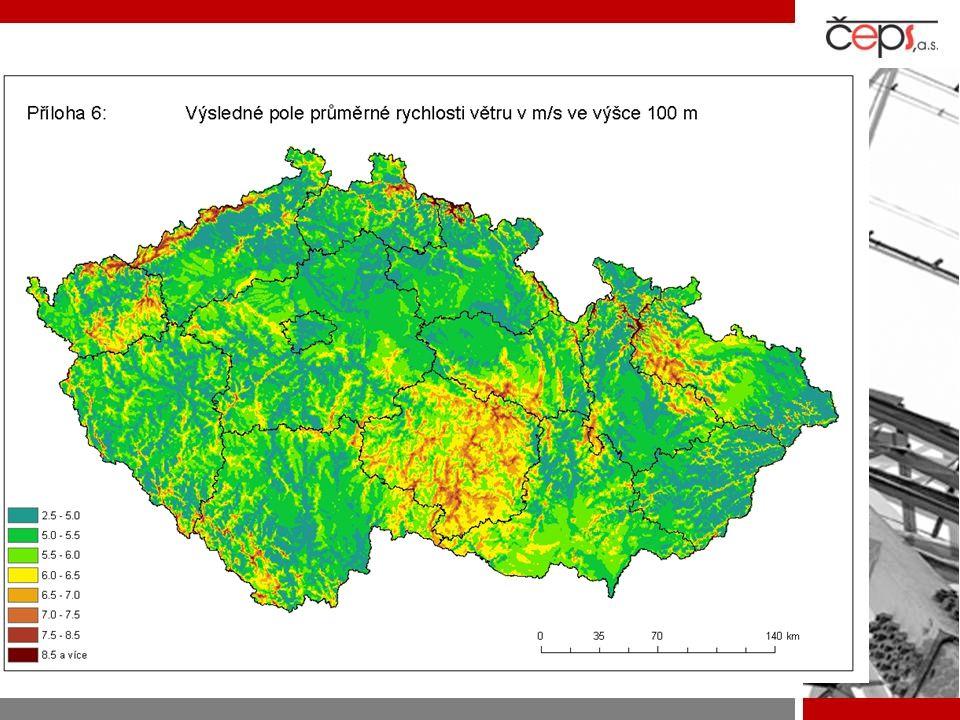 Studie o větrném potenciálu- výsledek, dál zpracováváme výsledky a časoprostorová korelace konec 2008 – modely pro výpočty.