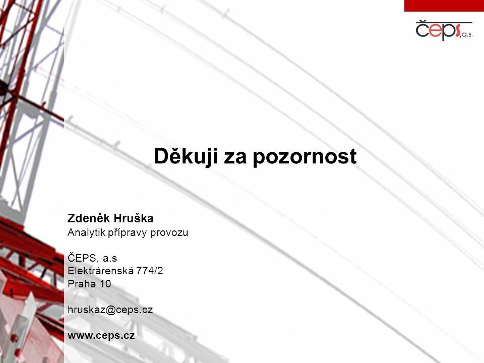 Děkuji za pozornost Zdeněk Hruška Analytik přípravy provozu ČEPS, a.s
