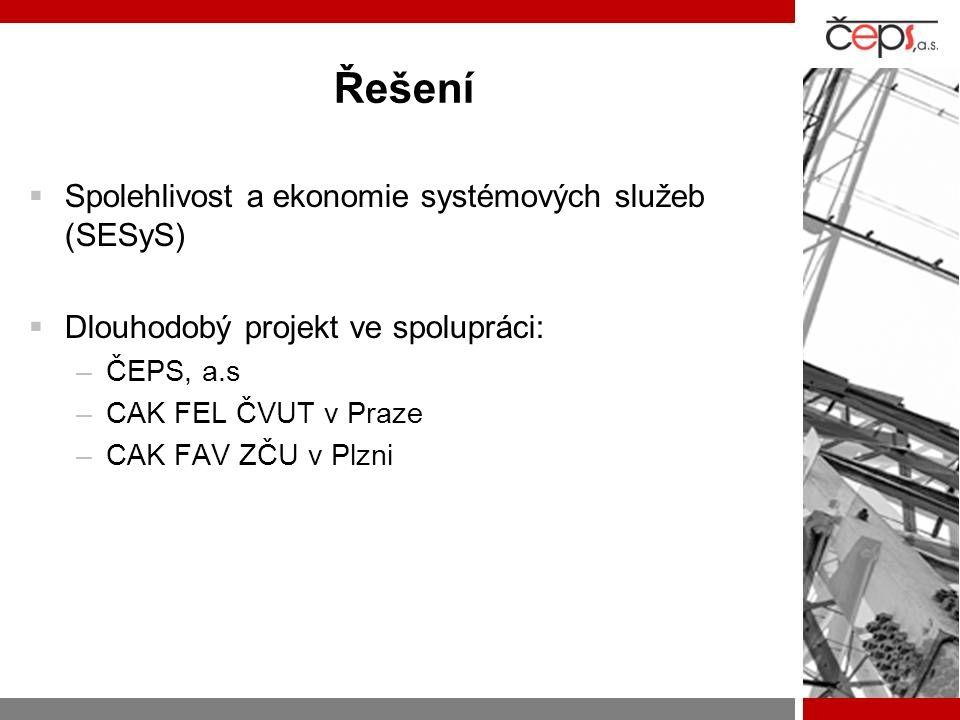 Řešení Spolehlivost a ekonomie systémových služeb (SESyS)