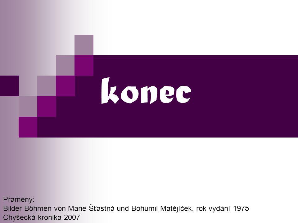 konec Prameny: Bilder Böhmen von Marie Šťastná und Bohumil Matějíček, rok vydání 1975.