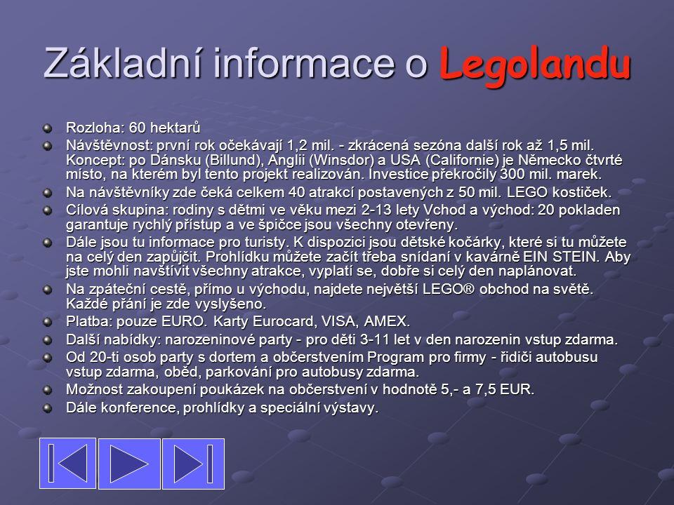 Základní informace o Legolandu