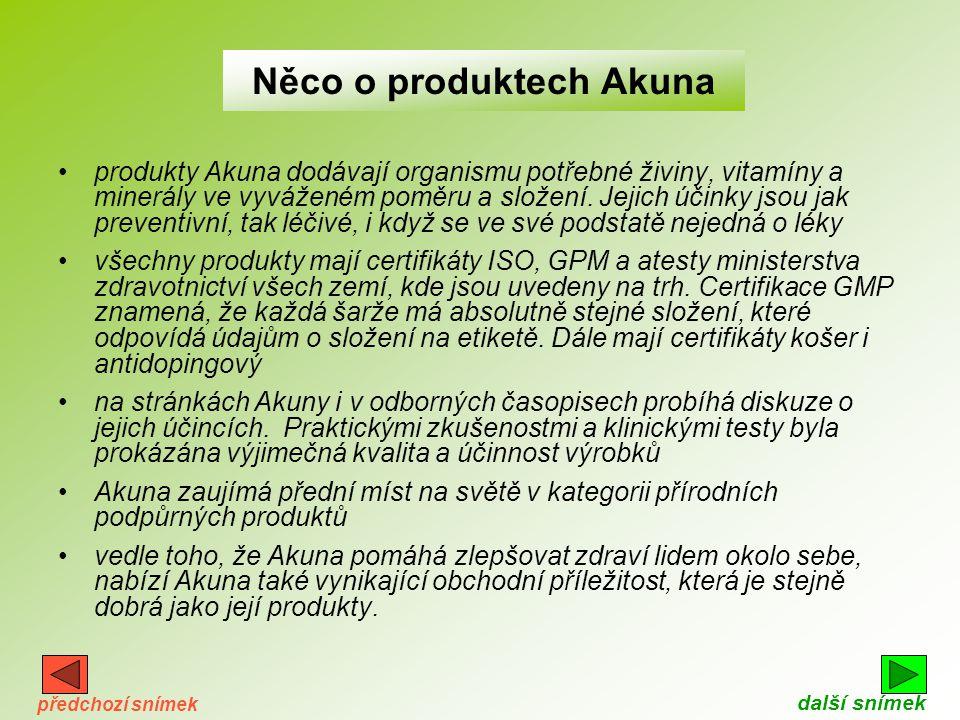 Něco o produktech Akuna