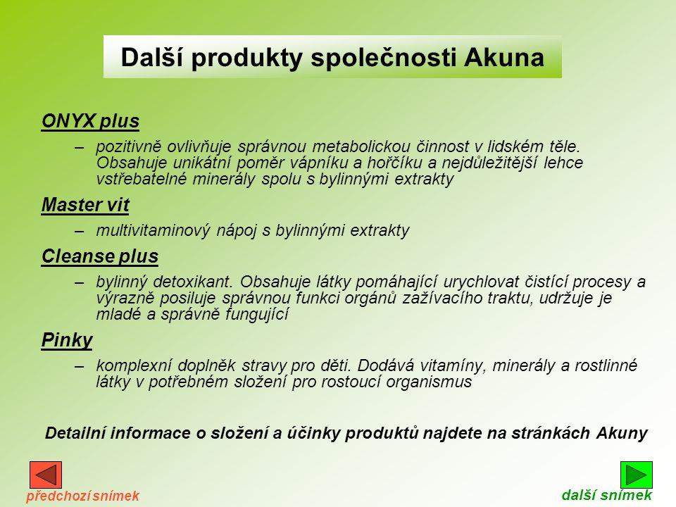 Další produkty společnosti Akuna