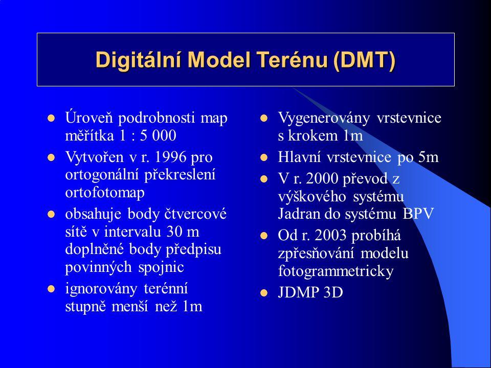 Digitální Model Terénu (DMT)