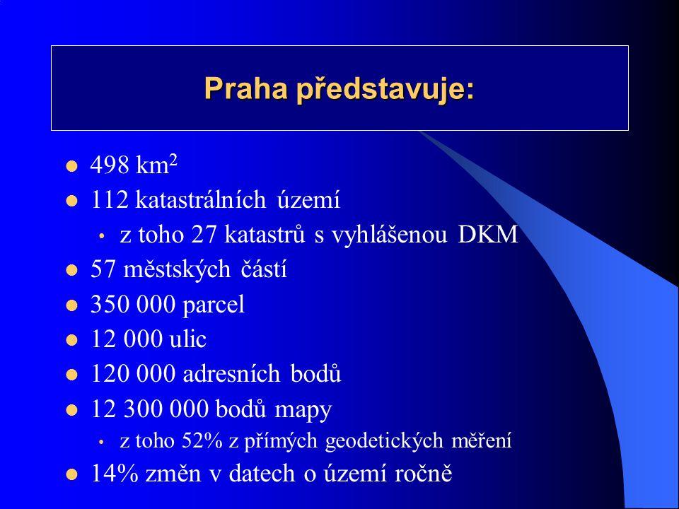 Praha představuje: 498 km2 112 katastrálních území