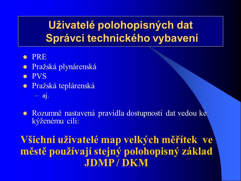 Uživatelé polohopisných dat Správci technického vybavení