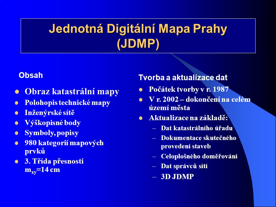 Jednotná Digitální Mapa Prahy