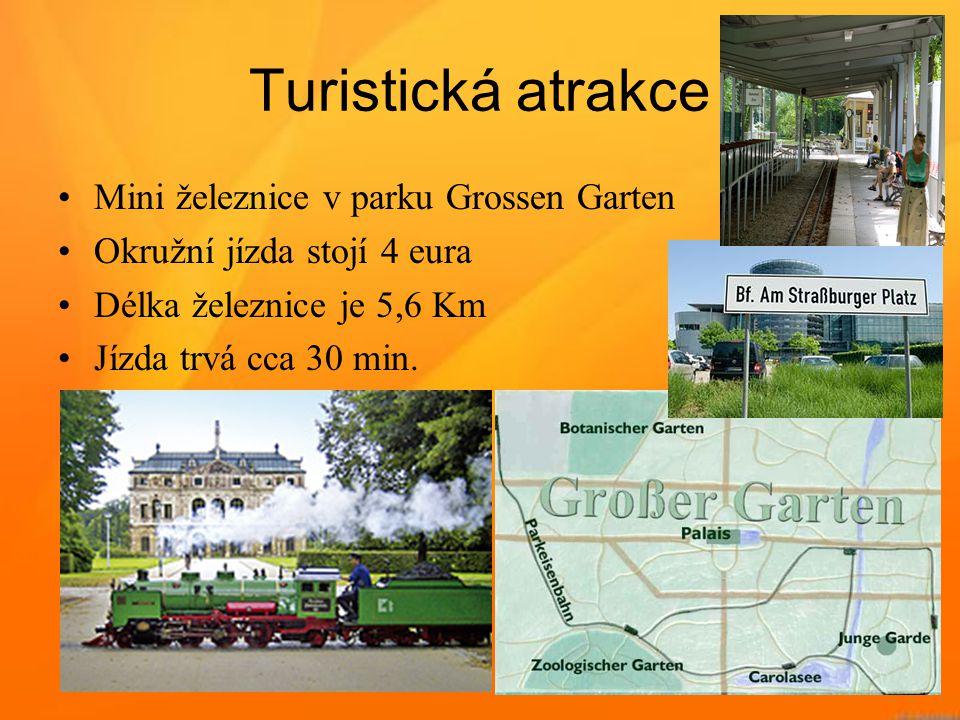 Turistická atrakce Mini železnice v parku Grossen Garten